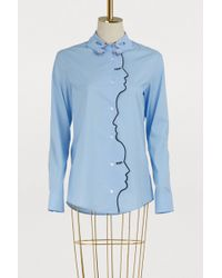Vivetta - Faces And Hands Cotton Shirt - Lyst