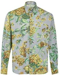 Givenchy Chemise manches longues Floral - Vert