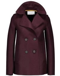 Harris Wharf London Felted Wool Coat - Purple
