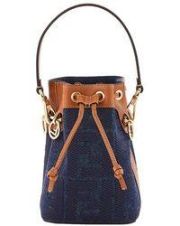 Fendi Mon Tresor Mini Bucket Bag - Blue