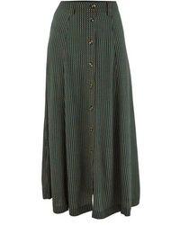 Ganni Printed Skirt - Green
