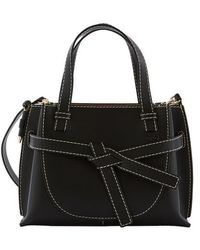 Loewe Sac Gate Mini Top Handle en Cuir Noir