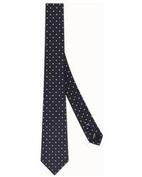 Fendi Silk Tie - Blue