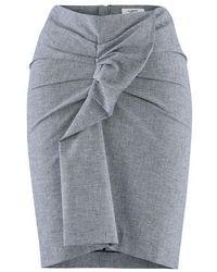 Étoile Isabel Marant Black And White Linen Ines Skirt