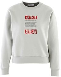 Roseanna Silkscreen Print Sweatshirt - Grey