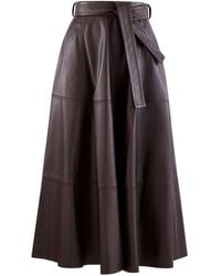 Zimmermann Resistance Leather Skirt - Brown