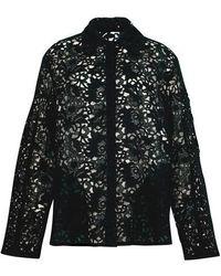 Valentino Jacke aus Spitze - Schwarz