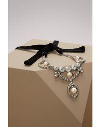 Miu Miu - Crytal Necklace - Lyst