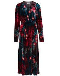 Dries Van Noten Depo Velvet Long Dress - Multicolour
