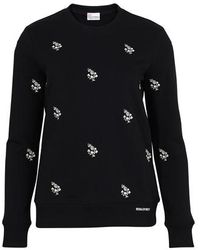 RED Valentino Embroidered Sweatshirt - Black