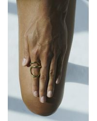 Charlotte Chesnais Ribbon Ring - Metallic