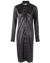 Bottega Veneta Long Sleeve Dress - Black