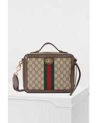 a40a192f6b7e Lyst - Gucci Gg Caleido Canvas Duffel Bag in Black
