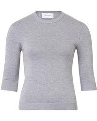 Alexandra Golovanoff Kawaï 3/4 Sleeve Sweater - Grey