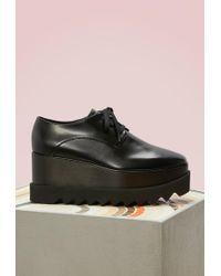 Stella McCartney - Elyse Wedge Derby Shoes - Lyst