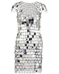 Paco Rabanne Sequin Chain-disc Mini Dress - Metallic