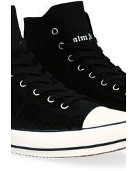 Palm Angels High Vulcanized Sneakers - Black
