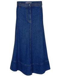 Valentino Gonna Long Skirt - Blue