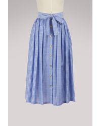 Stella Jean - Gonna Lunga Cotton Skirt - Lyst