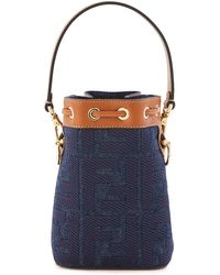 Fendi Mini-Bucket-Tasche Mon Tresor - Blau