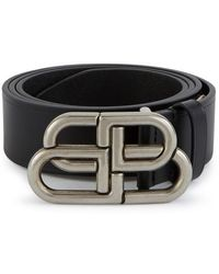 Balenciaga Bb Wide Belt - Black
