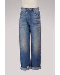 Gucci - 80s Embroidered Jeans - Lyst