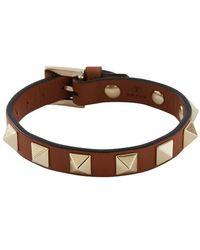 Valentino Garavani Rockstud Bracelet - Brown