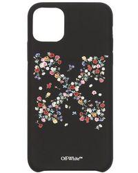 Off-White c/o Virgil Abloh Coque d'iPhone 12 Pro à imprimé Arrows fleuri - Noir