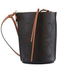 Loewe Gate Bucket Anagram Bag - Black