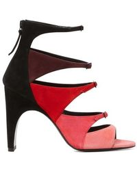 Pierre Hardy Lula Color-block Heeled Sandals - Red