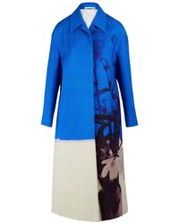 Dries Van Noten Textured Maxi Coat - Blue