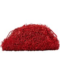 Bottega Veneta Pochette en cuir - Rouge