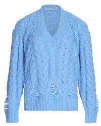 Stella McCartney Pullover mit V-Ausschnitt - Blau