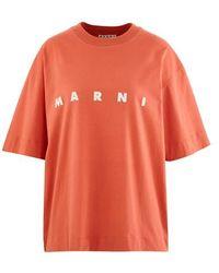 Marni Logo T-shirt - Orange