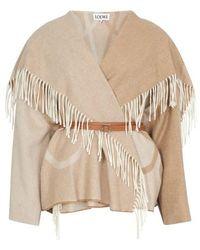 Loewe Anagram Blanket Jacket - Natural