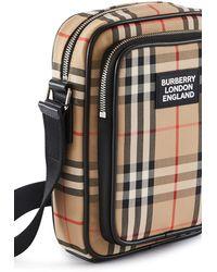 Burberry Crossbody-Tasche aus Vintage Check-Gewebe und Leder - Mehrfarbig