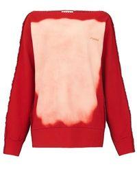 Marni Sweatshirt imprimé corrosion - Rouge