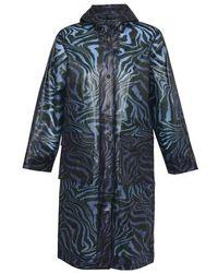 Ganni Printed Raincoat - Blue