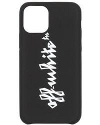 Off-White c/o Virgil Abloh Logo-print Silicone Iphone 11 Pro Max Case - Black