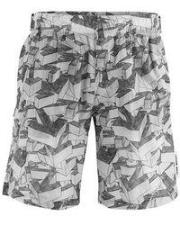 Off-White c/o Virgil Abloh Printed Swim Shorts - Grey