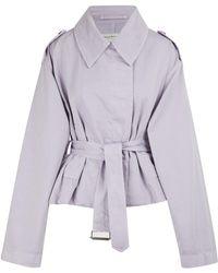 Dries Van Noten Cotton Jacket - Purple