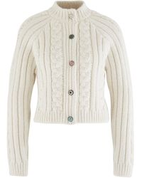 Ganni Cable-knit Cardigan - White