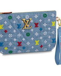 Louis Vuitton New Wave Zipped Pochette - Blue