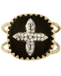 Pascale Monvoisin Bowie N°2 Ring Black Diamond