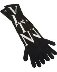 Valentino Garavani Vltn Gloves - Black