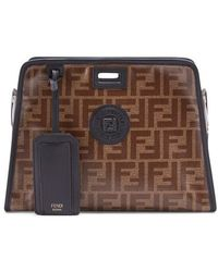 Fendi Small Peekaboo Defender - Brown