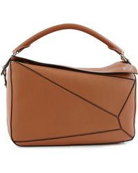 Loewe Large Puzzle Shoulder Bag - Brown