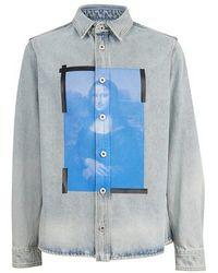 Off-White c/o Virgil Abloh Denimhemd Blue Monalisa - Blau