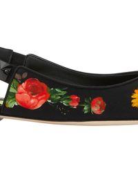 Dolce & Gabbana Flowers Mix Ballet Pumps - Black
