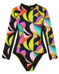 Vilebrequin Rashguard One-piece Swimsuit - Black